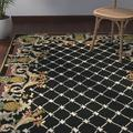 Safavieh Chelsea Geometric Hand Hooked Wool/Yellow/Beige Area Rug Wool in Black, Size 69.0 H x 45.0 W x 0.25 D in | Wayfair HK728A-4