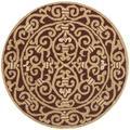 Safavieh Chelsea Oriental Hand Hooked Wool Burgundy Area Rug Wool in Red, Size 48.0 H x 48.0 W x 0.25 D in | Wayfair HK11C-4R