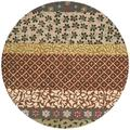 Safavieh Bella Floral Handmade Tufted Beige/Red/Brown Area Rug in Brown/Red/White, Size 60.0 H x 60.0 W x 0.63 D in   Wayfair BEL351A-5R