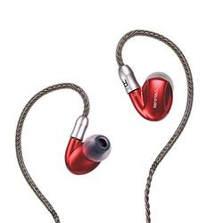 SIVGA SM002 Professional Noise Cancelling Running in-Ear 3 Drives Deep Bass Earbuds with 2 MMCX Cables + Silicone Ear Tips (S/M/L) + Double Silicone Ear Tips + Sponge Ear Tips (Red)