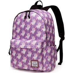 School Backpack for Girls,VASCHY Water Resistant Durable Casual Schoolbag Bookbag for Middle School Students in Pink Unicorn