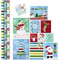 Hallmark All in One Christmas Gift Wrapping Set, Family (3 Rolls of Wrapping Paper, 10 Assorted Gift Bags, 32 Gift Tag Stickers)