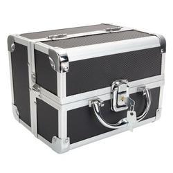 Rebrilliant Portable Diamond Texture Aluminum Accessory Box in Black, Size Mini Small   Wayfair 83C0924A4F9949EFA5F787F35FBDA243