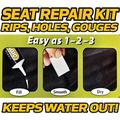 HD Switch - Black - Riding Lawn Mower - Garden Tractor - Seat Cushion Vinyl Repair Kit - Extra Tough - Keeps Water Out!