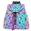 HotOne Geometric Luminous Purses and Handbags Shard Lattice Eco-friendly Leather Holographic Purse (Backpack 3191)