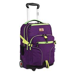 "J World New York Lunar Laptop Rolling Backpack, Purple, 19.5"""