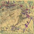 The assault on the Red Battery April 25th 1862 Yorktown Va Warwick River to the west and the Warwick Road to the east as McClellans forces attacked Confederate batteries on the Peninsula south of Yor