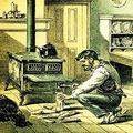 No More of this Kindling Business Man chops wood to start the fire in stove Ransom & Rathbone was one of the larger enterprises in Albany New York which operated under a multitude of names from its e