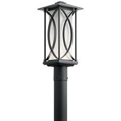 "Kichler 49976LED Ashbern Single Light 19"" Tall Integrated LED Outdoor Single Head Post Light"