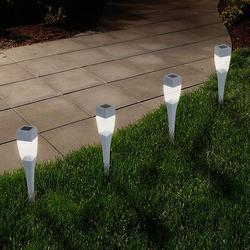 Navarro Outdoor Solar LED Path Light Garden Stake 24-piece Set, Grey