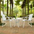 Palm Harbor Outdoor Wicker Cafe Seating 3-piece Set, White