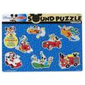 Disney's Mickey Mouse & Friends Vehicles Wooden Sound Puzzle by Melissa & Doug, Multicolor