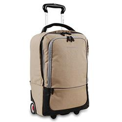 J World New York Sway Laptop Rolling Backpack, Sand, One Size