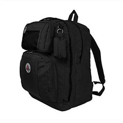 TRANSWORLD Double Gusset 17-inch Backpack, Black