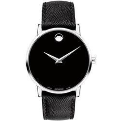 Movado Museum Classic Black Dial Black Leather Men's Watch 0607194
