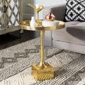Safavieh Corvus Tray Top Round End Table, Yellow