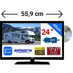 "ATVDVD24HD - COMBINÉ TV DVD LED 23,6"" 61cm HD 24V 12V ANTARION"