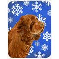 The Holiday Aisle® The Holiday Aisle Ashlynn Sussex Spaniel Glass Cutting Board Glass, Size 0.15 H x 11.25 W x 15.38 D in | Wayfair