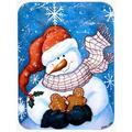The Holiday Aisle® The Holiday Aisle Ashlynn Gingerbread & Snowman Glass Cutting Board Glass, Size 0.15 H x 11.25 W x 15.0 D in | Wayfair