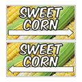 VictoryStore Sweet Corn Directional Sign - Set Includes Even Number of Right and Left Arrows - 12 inches x 24 inches - Weatherproof Corrugated Plastic - Full Color - 2 Stakes Per Sign (6)