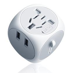 International Travel Adapter, Arvin Worldwide All In One Universal Power Wall Charger AC Plug Adaptor – Compact Mini Small 150 Countries With Dual 2.5A Smart USB Charging Ports – US EU UK AU DE Plugs
