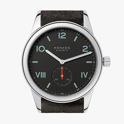 Nomos Club Campus Black Dial Black Leather Men's Watch 736