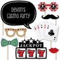Custom Las Vegas Photo Booth Props Kit - Personalized Casino Party Supplies - Las Vegas Party Decorations - 20 Selfie Props