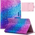 Dteck 9.6-10.5 Inch Display Universal Case, Slim Leather Wallet Flip Cute Cover for HD 10/ Samsung Galaxy Tab/Lenovo Tab/Onn/Android Tablet 9.6 9.7 10 10.1 10.2 10.3 10.4 10.5 Inch (Rainbow Sand)