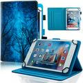 Dteck 9.5-10.5 Inch Universal Case, Flip Stand Leather Cover for Galaxy Tab 9.6 9.7 10.1 10.4 10.5 /iPad Pro 9.7 /Dragon Touch 10 10.1 /Lenovo Tab 10.1 10.3 /Android Tablet 10 10.1 Inch, Green Forest