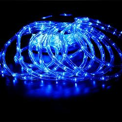 PYSICAL 110V 2-Wire Waterproof LED Rope Light Kit for Background Lighting,Decorative Lighting,Outdoor Decorative Lighting,Christmas Lighting,Trees,Bridges and Eaves (50FT, Blue)
