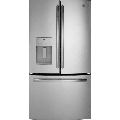 GE GFE26J 36 Inch Wide 25.6 Cu. Ft. Energy Star Rated French Door Refrigerator w Stainless Steel