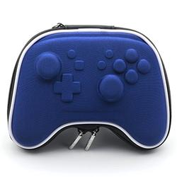E-MODS GAMING Blue Carry Case EVA Hard Protective Case Bag for Nintendo Switch PRO Controllers