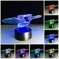 Sta Trek 3D Lamp Table Night Light 3D Optical Illusion Lamp -7 LED Color Changing Lamp 3D Night Lights for Home Decor Party Decor Boys Girls Birthday Gift Xmas Gift (Star-Ship)