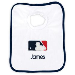 """Newborn & Infant White MLB Merchandise Personalized Bib"""