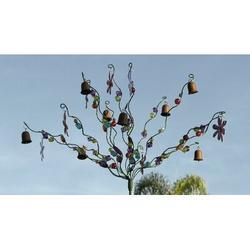 Red Barrel Studio® Haubert Blossom & Bells Garden Stake Resin/Plastic/Metal, Size 28.0 H x 15.0 W x 15.0 D in | Wayfair