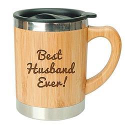 Best Husband Ever - Stainless Steel Bamboo Coffee Mug Insulated with Lid Husband Coffee Mug, Gift for Husband, Husband Mug, Husband Gift, Gift for Birthday, Mug for Husband, Husband Gift Idea