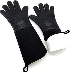 """Long Oven Gloves,Kitchen Gloves Heat Resistant,Cooking,Baking,Grilling,Oven Mitts Heavy Duty (19.7"""")"""