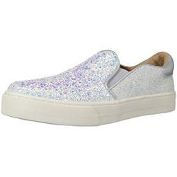 The Children's Place Girl's Slip On Sneaker 2108097, White, Youth 5 Child US Little Kid