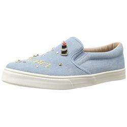 The Children's Place Girl's Slip On Sneaker 2107976, Denim, Youth 6 Child US Little Kid