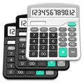 Calculator, Splaks 3 Pack Standard Functional Desktop Calculator Solar and AA Battery Dual Power Electronic Calculator with 12-Digit Large Display (2 Basic Black&1 Updated Silver)