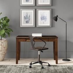 Birch Lane™ Lovette DeskWood in Brown, Size 30.0 H x 47.0 W x 24.0 D in   Wayfair F26DB0244FD347BDBE552F1F0CB57DC4
