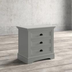 Greyleigh™ Alicea 3 - Drawer Nightstand Wood in Gray, Size 29.0 H x 28.0 W x 18.0 D in | Wayfair 8E40E6B3183E4C62AF13A12556304568