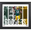 Aaron Rodgers Green Bay Packers Framed 15'' x 17'' Player Panel Collage