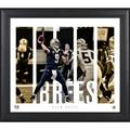 Drew Brees New Orleans Saints Framed 15'' x 17'' Player Panel Collage