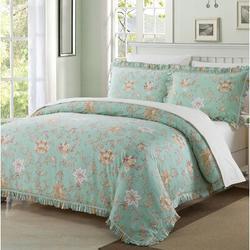 Ophelia & Co. Vernonburg 100% Pure Cotton Duvet Cover Set in Green/Orange, Size King Duvet + 2 Shams | Wayfair AF3385BCADBE49D7949E301B879786CF
