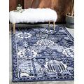Unique Loom La Jolla Collection Tone Traditional Area Rug, 10 Feet 6 Inch x 16 Feet 5 Inch, Blue/Ivory