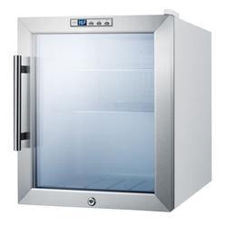 "Summit SCR215LBI 17"" Countertop Refrigerator w/ Front Access - Swing Door, White, 115v"