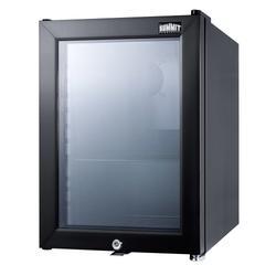 "Summit SCR114L 14"" Countertop Refrigerator w/ Front Access - Swing Door, Black, 115v"