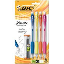 BIC Velocity Original Mechanical Pencil, Medium Point (0.7mm), 4-Count (Pack of 6)