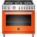 Bertazzoni PROF366GAST Professional Series 36 Inch Wide 5.9 Cu. Ft. Free Standing Gas Range Orange